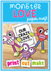 Valentine's Day Craft - Crazy For Love - Print, Cut and Make