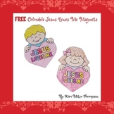 Valentine's Day Craft: Jesus Loves Me Magnets with Printables