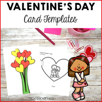 Valentines Day Craft Ideas - card templates for students