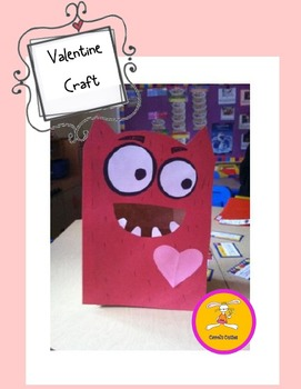 Valentine S Day Craft Large Paper Bag Monster By Carol S Cuties Tpt