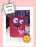 Valentine's Day Craft Large Paper Bag Monster