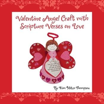 valentine s day craft valentine angel with bible scripture about love