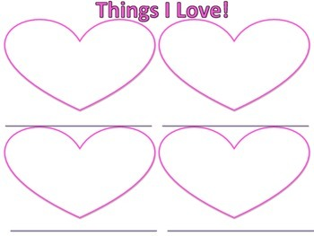 Valentines Day Craft and Writing Activity