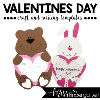 Valentine\'s Day- Craft and Writing Templates by Miss Kindergarten Love