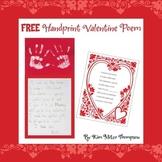 Valentine's Day Craft:Handprint Poem