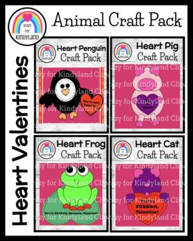 Valentine's Day Crafts: Heart Value Pack: Penguin, Cat, Pig, Toad