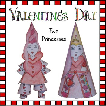 Valentine's Day Crafts - Princess of Hearts (Conehead & Jiggly Legs) & a Cupcake