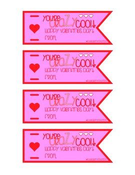 Valentine's Day Crazy Straw Label #2