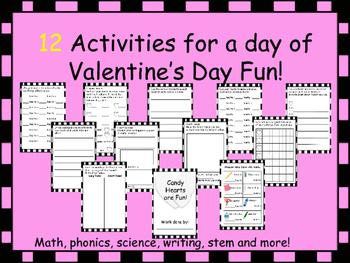 Valentines Day Cross Curriculum Packet. Just add Hearts