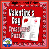 Valentines Day Crossword Puzzle for Middle School