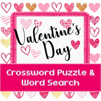 Valentines Day - Crossword Puzzle & Word Search