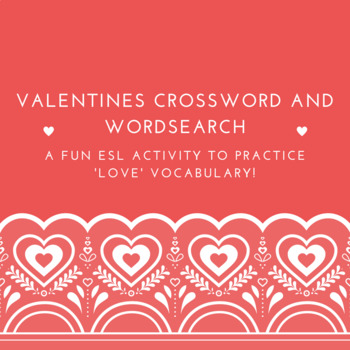 Valentines Day Crossword and Wordsearch
