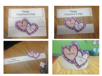 Valentine's Day Crowns - Color by Sight Word