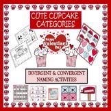Valentine's Day Cute Cupcake Categories: Divergent & Convergent Naming
