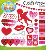 Valentine's Day Cupid's Arrow Clipart {Zip-A-Dee-Doo-Dah Designs}