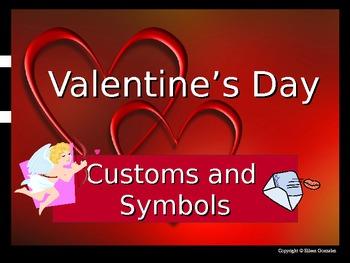 Valentine's Day Customs and Symbols Powerpoint Presentation ESL ENL