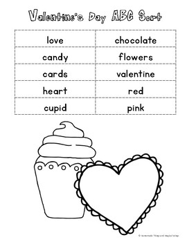 Valentine's Day ABC Sort {cut & paste}