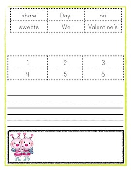 Valentine's Day Activity - Cut-Up Sentences - Differentiated Instruction