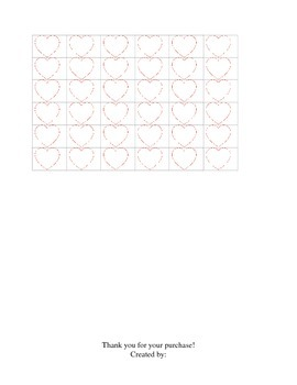 Valentine's Day Cut and Paste Math- K