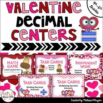 Valentine's Day Decimal Centers (Grades 4-6)
