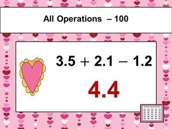 Valentine's Day Game - Decimals
