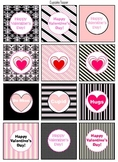 Valentine's Day Decoration (pink/black set)