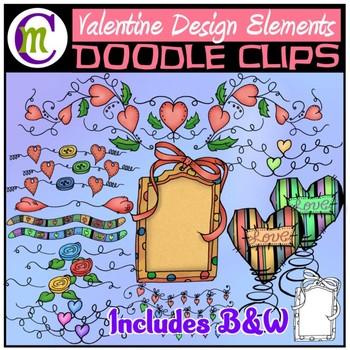 Valentines Day Design Elements Clip Art