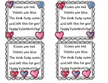 Valentine's Day Desk Fairy by The 2 Teaching Divas