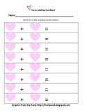 Valentine's Day Dice Roll Addition Sentences