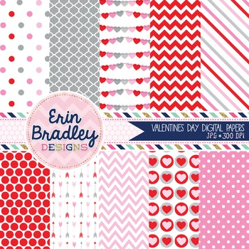 Valentines Day Digital Backgrounds