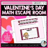 Valentines Day Digital Escape Room | Math Problem Solving
