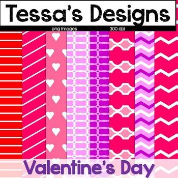 Valentine's Day {Digital Paper Pack}