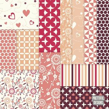 Valentines Day Digital Paper Pack