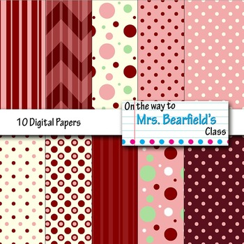 10 Valentine's Day Digital Papers