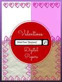 Valentine's Day Digital Papers - Personal and Commercial