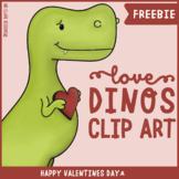 Love Dinosaurs Clip Art Set (FREEBIE)