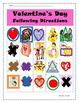 Valentine's Day Direction Following Activity