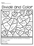 Valentine's Day Divide and Color Activity