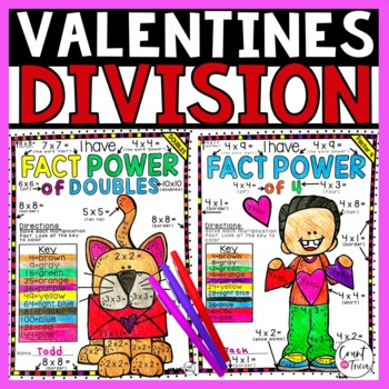 Valentines Day Division Color by Number