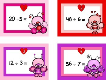 Valentine's Day {Division Facts} Task Cards