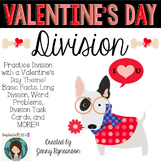 Valentine's Day Division! Long Division, Word Problems, & More!