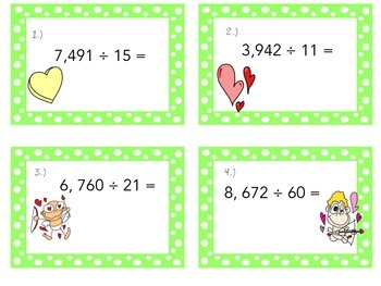 Valentine's Day- Division Task Cards (Differentiated)
