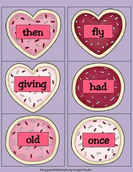Valentine's Day Dolch First Grade Word Cards