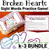 Valentines Day Games : Dolch Sight Word BUNDLE!