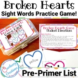 Valentines Day Games : Dolch Sight Words for Pre-Primer List