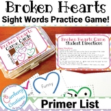 Valentines Day Games : Dolch Sight Words for Primer List