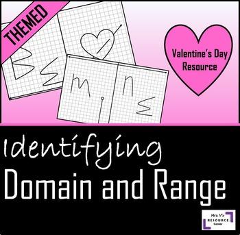 Valentine's Day Domain And Range Activity