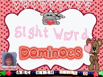 Valentine's Day Dominoes! Dolch Sight Word Domino Game for Literacy Centers