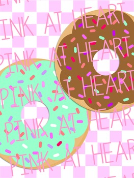 Valentines Day Donuts Clip Art