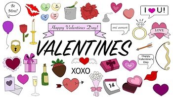 Valentines Day Doodle Clipart